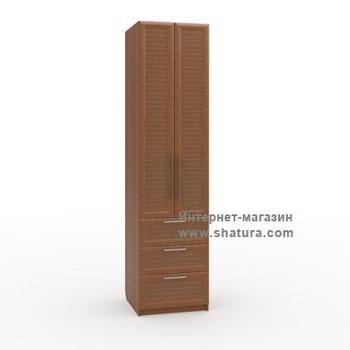 Гостиные Флоренция Шкаф с 3мя ящиками гл. 600 (орех) за 13 190 руб