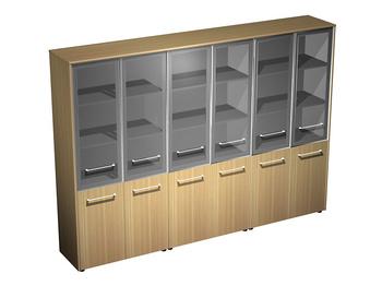 Мебель для персонала Шкаф для документов со стеклянными дверьми (стенка из 3 шкафов) за 142 011 руб