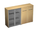 Офисная мебель Шкаф комбинированный средний(стекло - закрытый) за 55490.0 руб