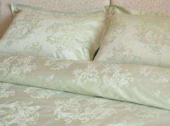 Постельное белье Однотонное постельное белье «Лоза», олива Семейный за 4 950 руб