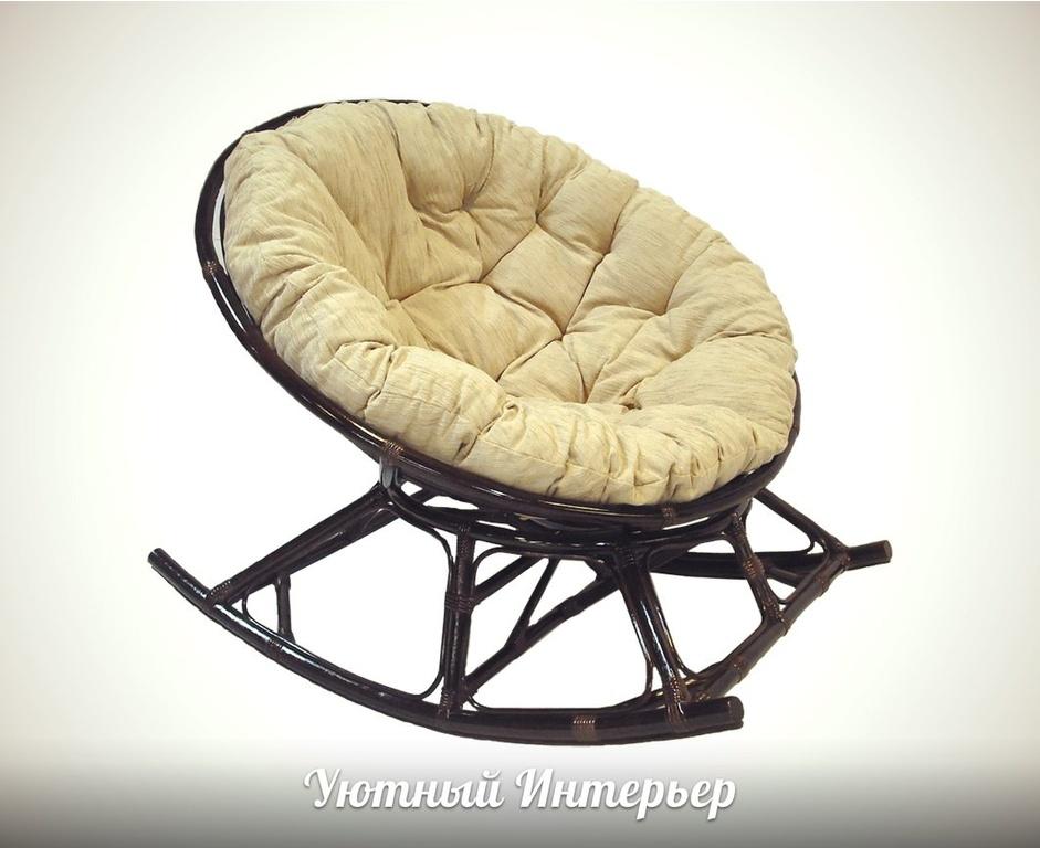 Кресло-качалка плетёное папасан