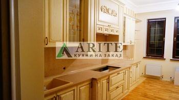 Кухонные гарнитуры Кухня МДФ в золой патине . Арт. 59 за 21 000 руб