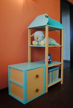 Корпусная мебель Стеллаж домик с тумбой за 13 420 руб
