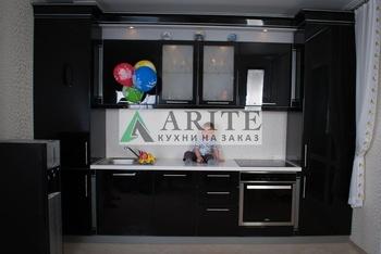 Кухонные гарнитуры Кухни Аритэ. Эмаль черная за 17 000 руб