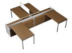 Столы и стулья Рабочая станция (4x120) на 2-x опорных тумбах-купе с ProSystem за 120539.0 руб