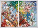 Картина маслом Atelier 170x130 (2 шт. в комплекте) за 140800.0 руб