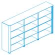 Офисная мебель Стеллаж высокий, топ и боковины в отделке натуральной кожей за 394633.5 руб