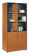 Офисная мебель Шкаф 2 глухие дверцы + 2 стеклянные дверцы в деревянной раме за 132270.9 руб