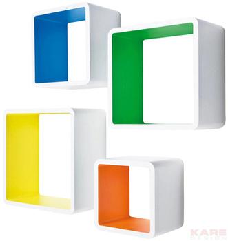 Полки и стеллажи Кубы для лаунжа MDF Square Colore (4 шт. в комплекте) за 7 400 руб