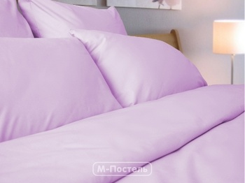 Постельное белье Однотонное постельное белье «Lilu Satin» Семейный за 4 000 руб
