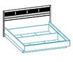 Интерьерная кровать с подъемным механизмом