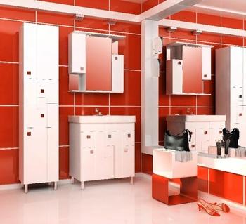 Шкафы КРОСС  (70) Шкаф-зеркало навесной (белый) за 5 980 руб
