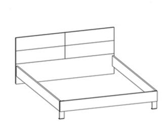 Кровати Кровать двуспальная за 11 384 руб
