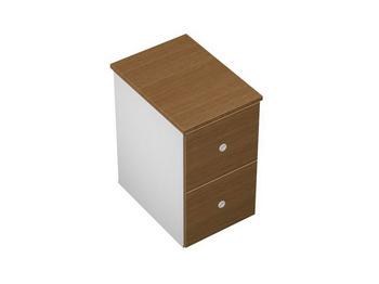 Тумбы Тумба приставная 2-ящичная М (2 файловых ящика) с крышкой замком и лотком за 8 746 руб