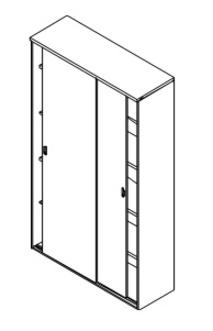 Мебель для персонала Шкаф купе 206 - полки за 21 902 руб
