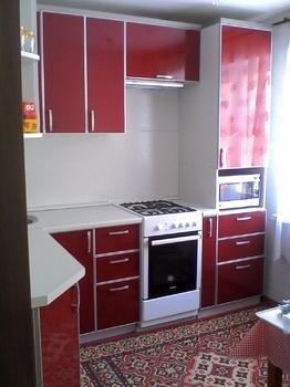 Кухонные гарнитуры Кухня угловая в бордовом цвете за 10 000 руб