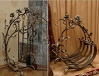 Кованая мебель Кованый набор для камина за 10000.0 руб