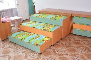 Детские кровати Кровать 3-х секционная выкатная с крышкой за 10 060 руб