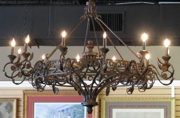 Кованая мебель Кованая люстра за 15 000 руб