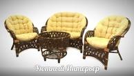 """Плетеная мебель Комплект для отдыха """"Рузвельт"""" Браун за 53500.0 руб"""
