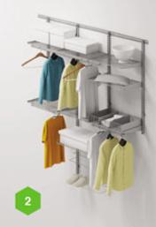 Спальни Комплект гардеробной ARISTO №2 за 18 500 руб