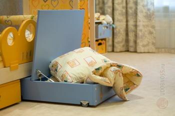 Детские кровати Ящик выкатной на колесах с крышкой за 4 140 руб
