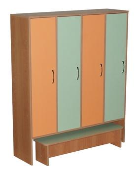 Корпусная мебель Шкаф для одежды 4-хсекционный с одной выдвижной скамейкой за 8 415 руб