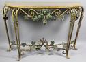 Пристенный кованый стол