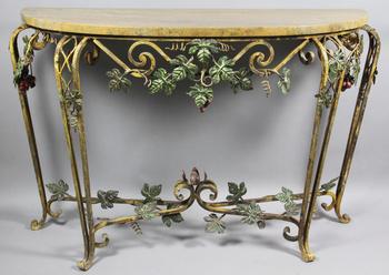 Кованая мебель Пристенный кованый стол за 15 000 руб