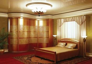 Встроенные шкафы-купе шкаф радиусный за 130 000 руб