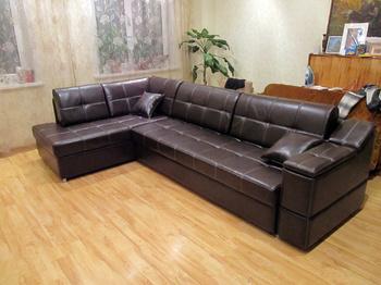 Угловые диваны Кожаный диван за 93 415 руб